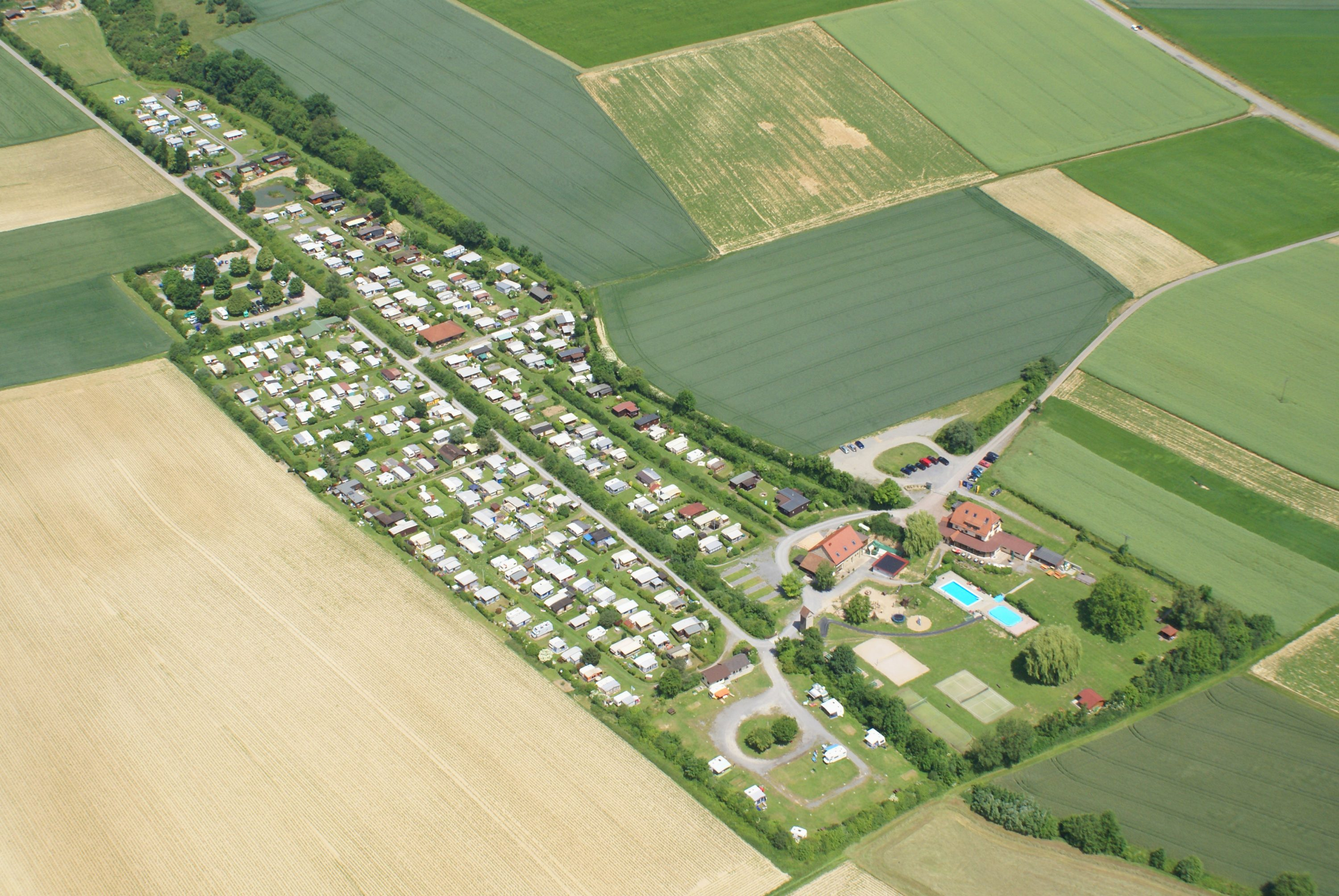 Luftaufnahme Camping Hilsbachtal