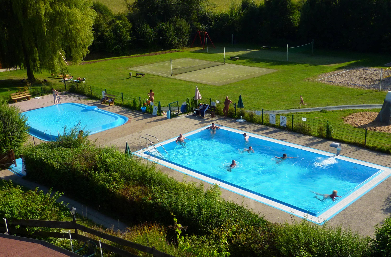 Blick über Pools